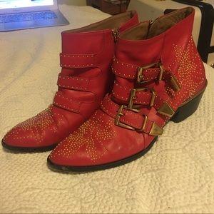 "Chloe Susanna ""cherry syrup"" Boots"